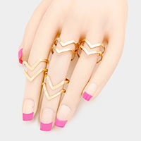 4 PCS - Cut Out Cage Metal Rings