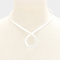 Swirl Metal Choker Necklace