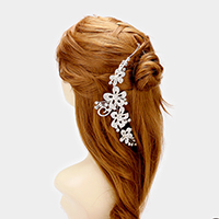 Crystal Rhinestone Flower Bun Wrap Headpiece