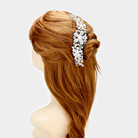 Crystal Rhinestone Triple Flower Hair Comb