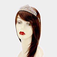 Floral Crystal Rhinestone Pageant Queen Tiara