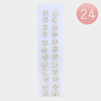 24 PCS - Mini Crystal Rhinestone Flower Spiral Hair Pins