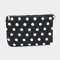 Wool Polka Dot Clutch Bag