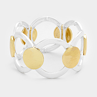 Hoop Round Metal Stretch Bracelet
