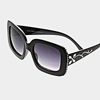 Square Front Crystal Sunglasses