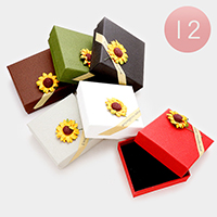 12 PCS - Sunflower Hard Jewelry Gift Boxes