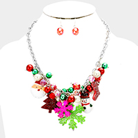 Christmas Charm Statement Necklace