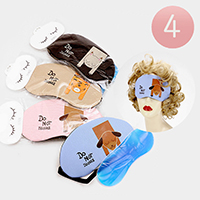 4 PCS - Animal Print Cooling Heating Gel Eye Mask
