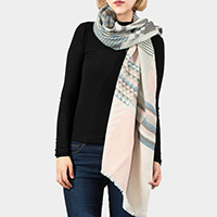 Multi Pattern Oblong Scarf