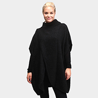 Unique Front Diagonal Cut Poncho