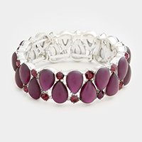 Marquise Cloudy Teardrop Stone Evening Bracelet