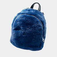 Mini Faux Fur Backpack Bag