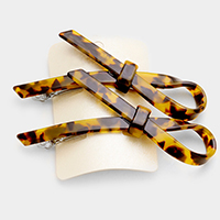 2 PCS Tortoise Knot Hair Barrette