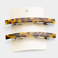 2 PCS Tortoise Hair Barrette