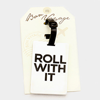 Roll With It Bon Voyage Rubber Luggage Tag