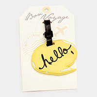 Hello Bon Voyage Rubber Luggage Tag