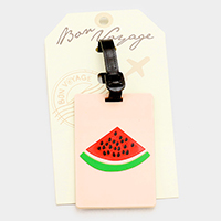Watermelon _ Bon Voyage Rubber Luggage Tag