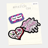 3 PCS  Embroidered Mix Patch Set