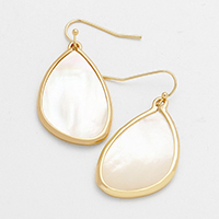Mother of Pearl Teardrop Shaped Dangle Earrings