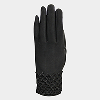 Thermal Diamond Detail Touch Gloves
