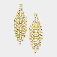 Crystal Rhinestone Marquise Evening Earrings