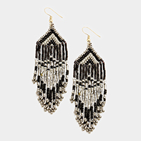 Beaded Fringe Tassel Earrings