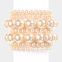 7 Layers Pearl Stack Stretch Bracelet