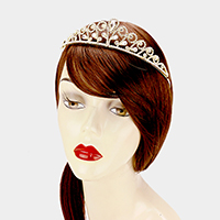 Pave Crystal Rhinestone Pageant Queen Tiara