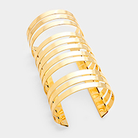 Metal Cut Out Cage Cuff Bracelet