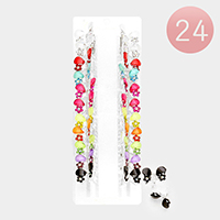 24 PCS Flower Hair Claw Clips