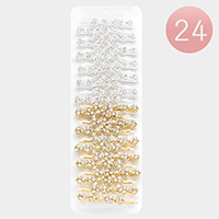 24 PCS Bubble Stone Bobby Pins
