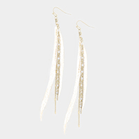 Long Feather Chain Earrings