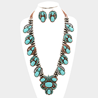 Beaded Multi Turquoise Navajo Necklace