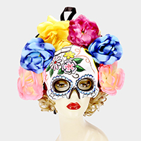 Halloween Flower Day of the Dead Masquerade Mask