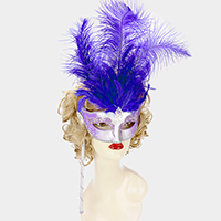 Halloween Feather Masquerade Mask