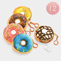 12 PCS -  Doughnut Coin Zipper Purses