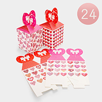 24PCS - Folding Heart Gift Boxes