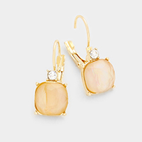 Rectangular Stone Earrings
