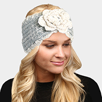 Soft Knit Flower Headband
