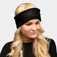 Twisted Tiny Sequin Soft Knit Headband