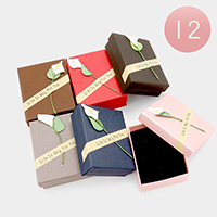 12 PCS - Life is Only For You Flower Hard Jewelry Gift Boxes