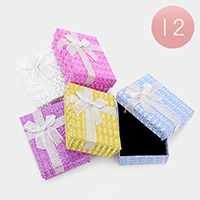 12 PCS - Bow Deco Hard Jewelry Gift Boxes