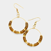 Tiny Sequin Metal Ball Hoop Earrings