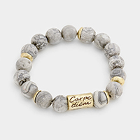 Carpe Diem Semi Precious Beaded Stretch Bracelet