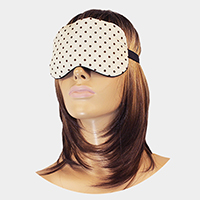 Polka Dot Print Cooling Heating Gel Eye Mask