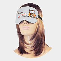 Owl Print Cooling Heating Gel Eye Mask