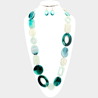 Multi Celluloid Long Necklace