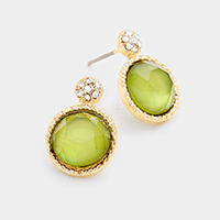 Round Stone Earrings