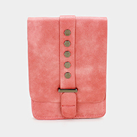 Leather Magnetic Snap Closure Cross Bag