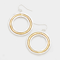 Triple Metal Hoop Earrings